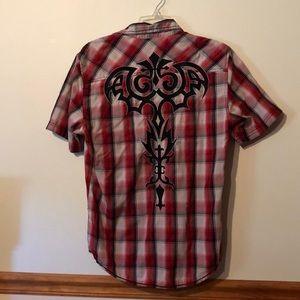 Men's Small Plaid Shirt